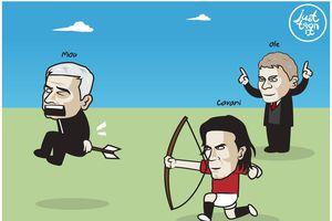 Ảnh chế: Cavani bắn hạ Spurs, Mourinho chờ ngày bị sa thải