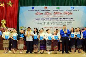 Giao lưu hữu nghị sinh viên, thanh niên Việt - Lào tại Nghệ An nhân tết cổ truyền Bunpimay 2021