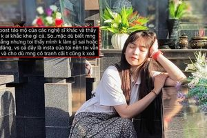 Gây tranh cãi với ảnh tạo dáng ở bia mộ, Khánh Vân khẳng định mình không làm sai