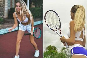 'Nhức mắt' thời trang thiếu vải của các mỹ nhân trên sân tennis