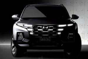 Hé lộ hình ảnh mẫu bán tải Hyundai Santa Cruz trước ngày ra mắt
