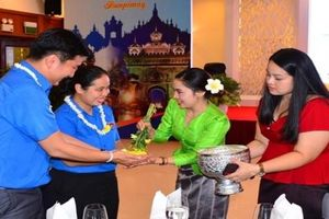 Sinh viên Lào - Campuchia vui Tết cổ truyền tại TP. Hồ Chí Minh