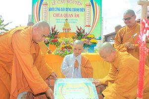Đồng Tháp: Lễ khởi công xây dựng ngôi đại hùng bảo điện chùa Quan Âm