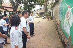 Kiểm tra thực trạng xây dựng nhiều công trình mới tại Di tích Quốc gia chùa Đậu
