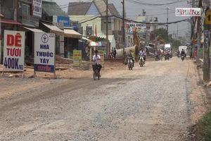 Công trình tỉnh lộ 9: Dân khổ sở vì đường thi công cầm chừng