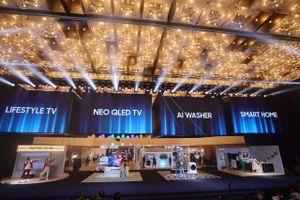 Samsung giới thiệu loạt TV, máy giặt, máy chiếu mới tại Việt Nam