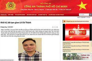 Công an TP.HCM thông tin vụ bắt giữ Lê Chí Thành