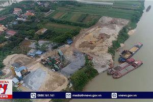 Bến bãi, trạm trộn bê tông trái phép hoành hành tại Hưng Yên