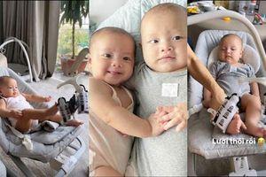 Càng lớn, cặp sinh đôi nhà Hà Hồ - Kim Lý càng bộc lộ sự khác biệt