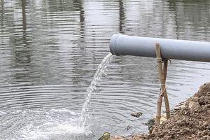 Hà Nội: Gấp rút thi công cống ngầm gom nước thải 'giải cứu' sông Tô Lịch