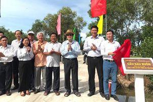 Long An: Khánh thành 17 cầu giao thông nông thôn
