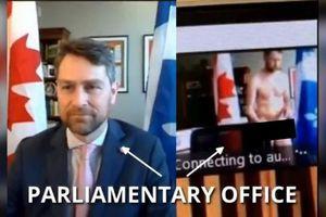 Quên tắt camera, nghị sĩ Canada bị lộ ảnh 'nóng' ngay giữa cuộc họp Quốc hội
