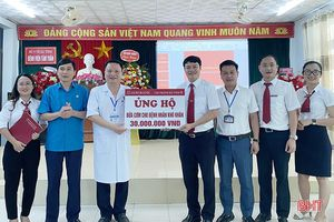 Agribank Hà Tĩnh II hỗ trợ 30 triệu đồng cho quỹ bữa ăn bệnh nhân nghèo