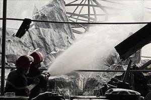 Khống chế kịp thời đám cháy tại Công ty Sơn TOA Việt Nam