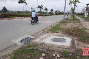 Thành phố Thanh Hóa khắc phục tình trạng hố ga mất nắp trên đường CSEDP