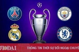Bán kết Champions League 2020/21: Real gặp Chelsea, Man City vs PSG