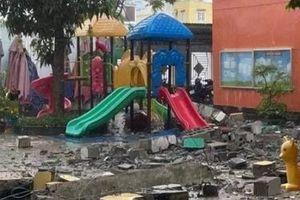 TP.HCM: Thông tin về việc sập đổ tường mái tại Trường Mầm non Ban Mai