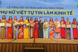 Trao giải chương trình 'Phụ nữ Việt tự tin làm kinh tế' năm 2020
