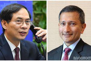 Bộ trưởng Ngoại giao Việt Nam-Singapore nhất trí thúc đẩy thương mại, đầu tư song phương