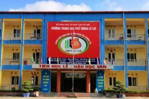 Trường THPT Lê Lợi (Hà Đông) thông báo tuyển sinh năm học 2021 – 2022