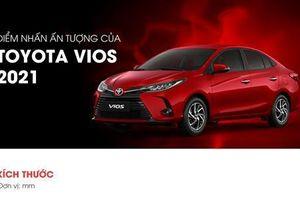Những điểm nhấn đáng chú ý trên Toyota Vios 2021