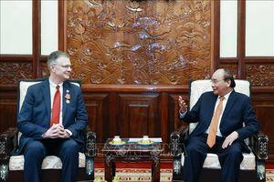Chủ tịch nước Nguyễn Xuân Phúc tiếp Đại sứ Hoa Kỳ Daniel Kritenbrink