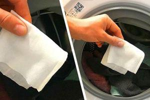 Bỏ 1 tờ khăn ướt vào máy giặt, ai cũng bất ngờ vì lợi ích quá tuyệt vời