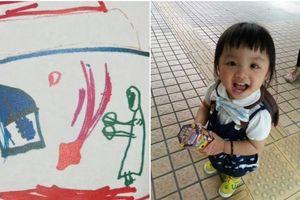 Bức vẽ của bé gái 5 tuổi phơi bày tội ác của cha đẻ và mẹ kế
