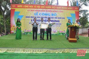 Công bố danh mục Di sản văn hóa phi vật thể Quốc gia Lễ hội Đền Mưng