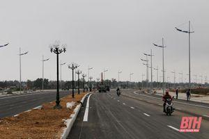 Cơ bản hoàn thành thi công tuyến đường nối TP Sầm Sơn với Khu kinh tế Nghi Sơn