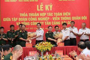 Tân Cảng Sài Gòn và Viettel ký thỏa thuận hợp tác toàn diện