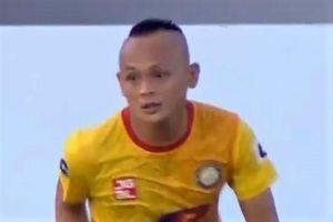 Quốc Phương sút phạt mở tỷ số cho CLB Thanh Hóa
