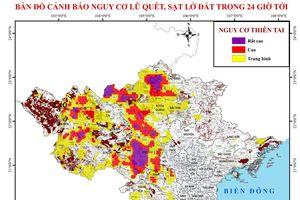 Cảnh báo lũ quét và sạt lở đất khu vực Bắc bộ và Bắc trung bộ