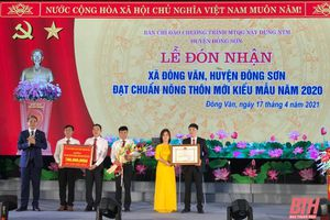 Xã Đông Văn đón Bằng công nhận xã đạt chuẩn nông thôn mới kiểu mẫu năm 2020