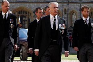 Hoàng tử Harry và anh trai William hội ngộ trong đám tang ông nội