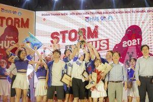 Tìm ra đội vô địch, tự phá vỡ kỷ lục chính mình trong cuộc thi 'Storm from HUS'