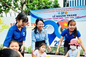 Khánh thành công trình 'sân chơi thiếu nhi' mừng 80 năm Đội TNTP Hồ Chí Minh
