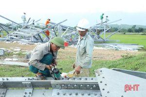 Nỗ lực đưa dự án đường dây 500 kV nhiệt điện Quảng Trạch - Vũng Áng 'về đích' đúng hẹn