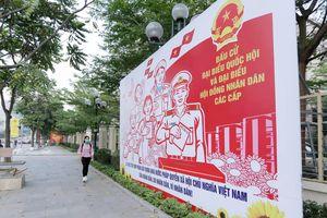 Hà Nội tuyên truyền chào mừng bầu cử đại biểu Quốc hội
