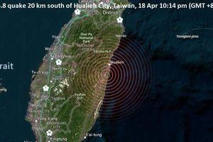 Đài Loan hứng chịu 2 trận động đất liên tiếp trong một ngày