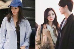 Dương Mịch chạy show quay phim với Hứa Khải, tạo hình 'bà thím' cực lôi thôi gây xôn xao
