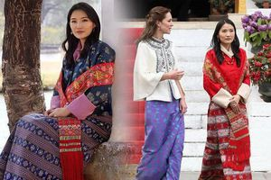 Hoàng hậu Bhutan không lép vế khi chụp cùng Công nương Kate