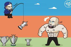 Biếm họa 24h: Chelsea phá hỏng giấc mơ giành 'cú ăn 4' của Man City