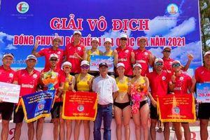Sanvinest Khánh Hòa vô địch Giải bóng chuyền bãi biển 4x4 quốc gia 2021