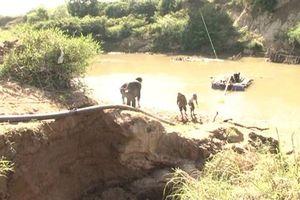 Phát hiện, xử lý vụ khai thác cát trái phép ở Đăk Lắk