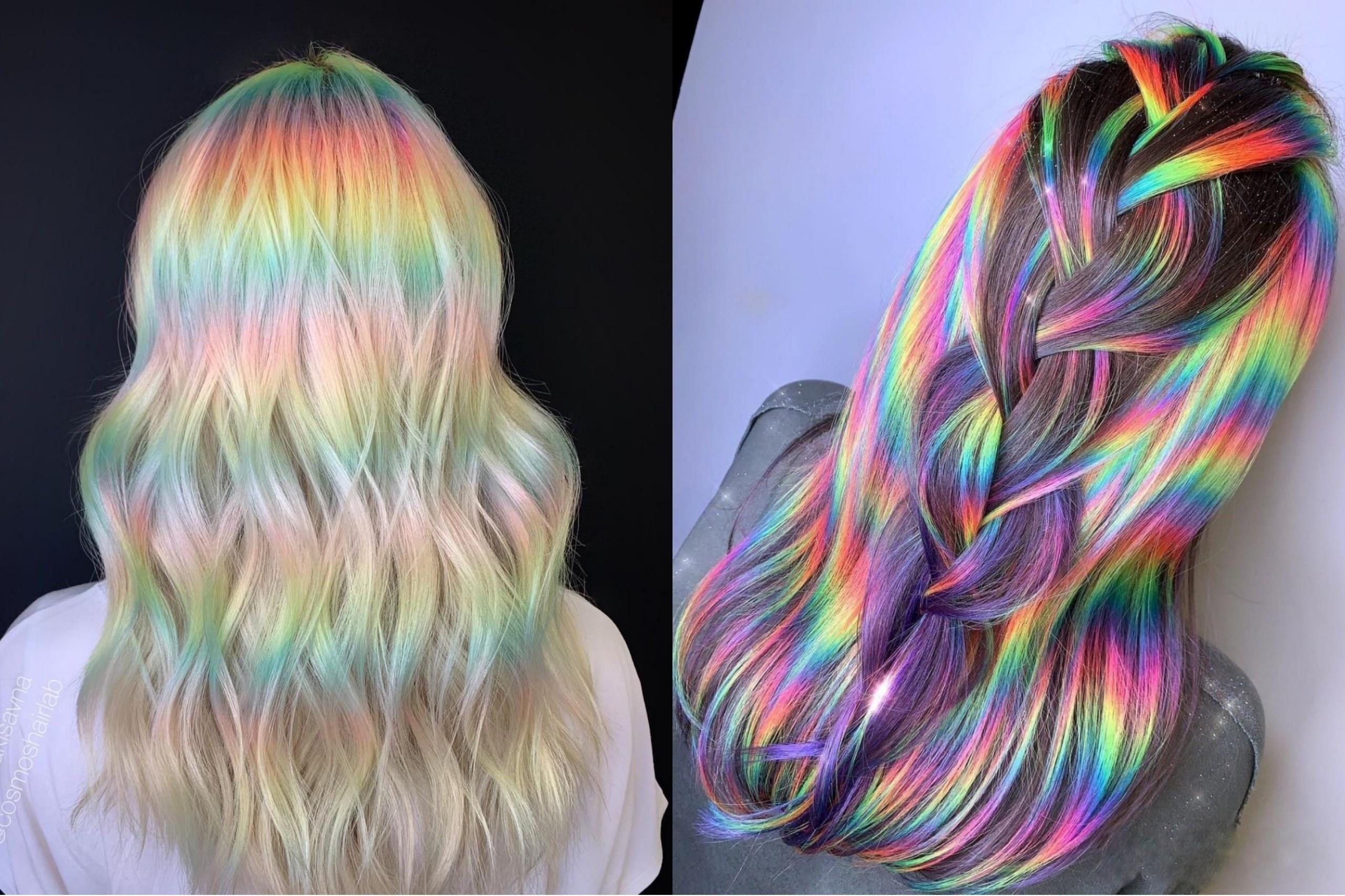 Nhà tạo mẫu tóc nổi tiếng với kiểu nhuộm cầu vồng