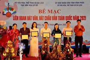 Trao 5 chương trình xuất sắc tại Liên hoan hát văn, hát chầu văn toàn quốc