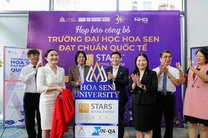 Trường ĐH Hoa Sen đạt chuẩn 4 sao của Tổ chức đánh giá, xếp hạng QS-Stars