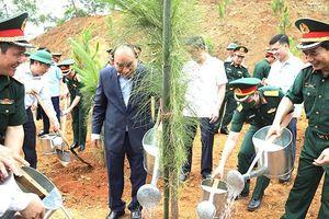 Quân đội gương mẫu, đi đầu trong phong trào trồng 1 tỷ cây xanh