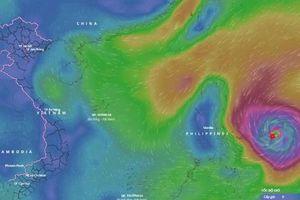 Siêu bão Surigae gây gió mạnh, sóng lớn trên Biển Đông
